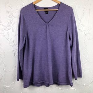 Eileen Fisher Merino Wool VNeck Pullover